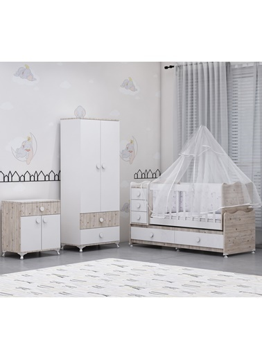 Garaj Home Garaj Home Melina Damla 2Li Bebek Odası Takımı Yatak Ve Uyku Seti Kombinli/ Uyku Seti Mavi Mavi